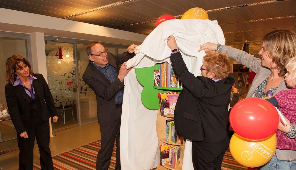 kinderzwerfboekenkast in het Arnhemse stadhuis