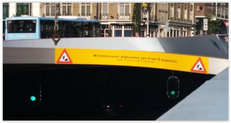 Onderhoud en afsluiting Willemstunnel
