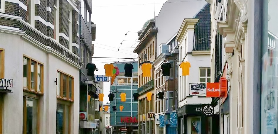 Binnenstad Arnhem kleurt Geel/Zwart