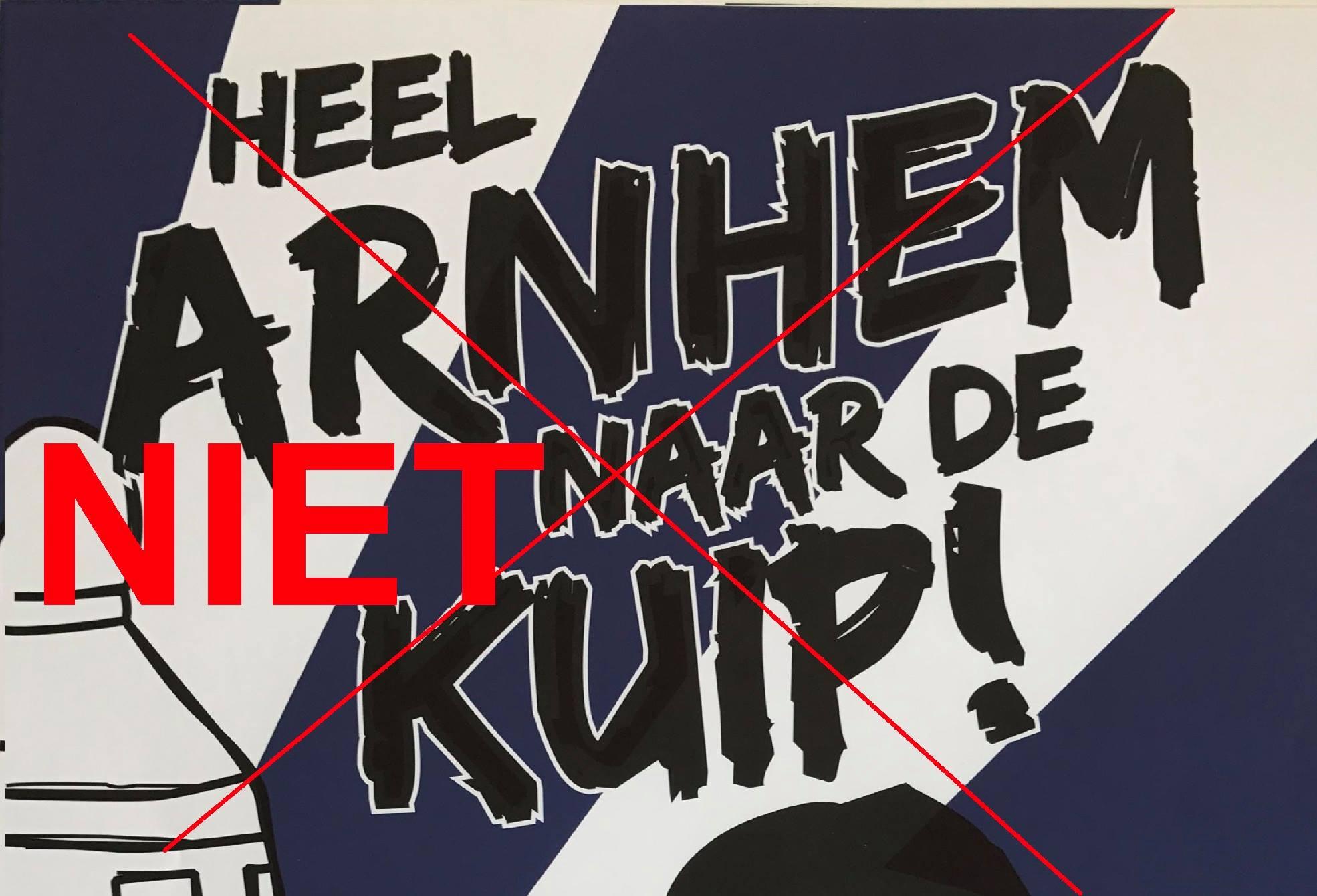 Vitesse supporters roepen op om in Arnhem te blijven