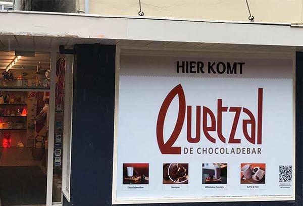 Binnenkort in Arnhem, chocoladebar Quetzal !