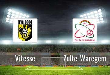 Fanzone voor aanhangers Zulte Waregem tijdens wedstrijd op 2 november