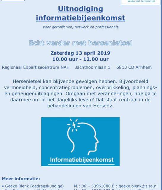 Informatieochtend over niet-aangeboren hersenletsel (NAH)