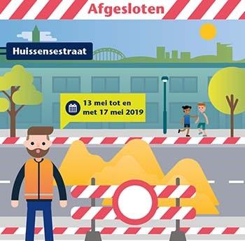 Nieuw asfalt deel Huissensestraat