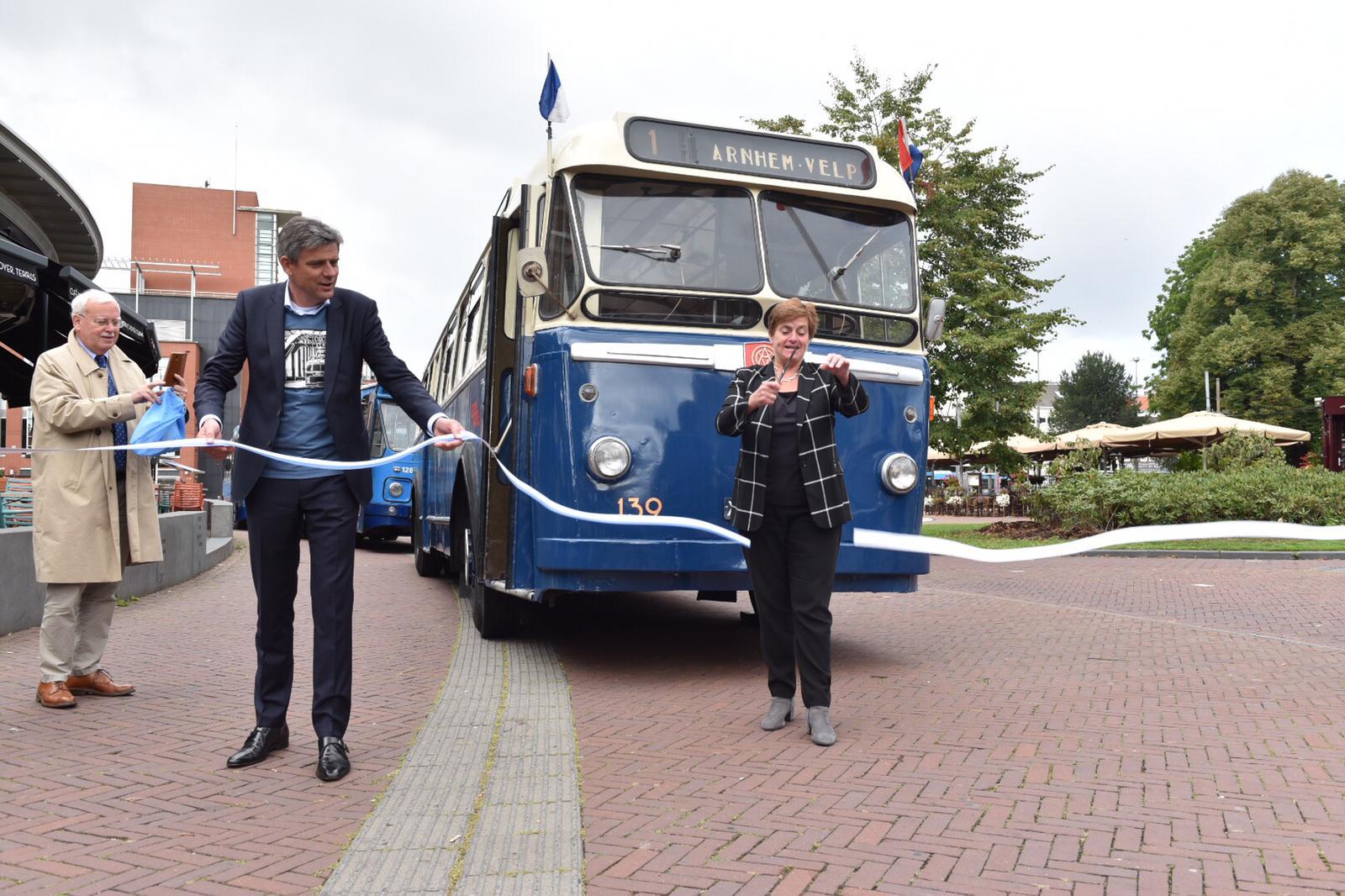 70 jaar trolley in Arnhem Historische trolley rijdt eerste rit opnieuw