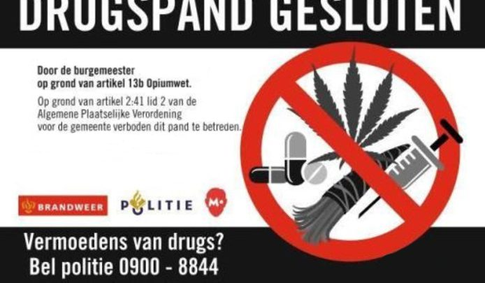 Burgemeester Marcouch sluit drugswoning