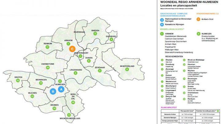 Snel 20.000 woningen erbij door Woondeal Arnhem-Nijmegen