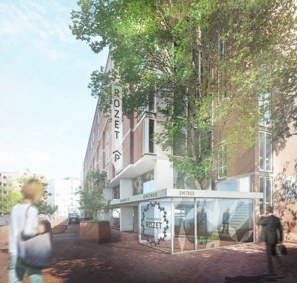 Parkeergarage Rozet wordt beter en moderner, Nieuwbouw bij Rozet wordt ook duurzame mobiliteitshub