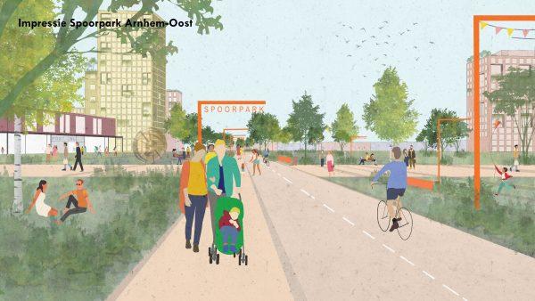 Spoorzone Arnhem-Oost: meer groen, mix van wonen en werken
