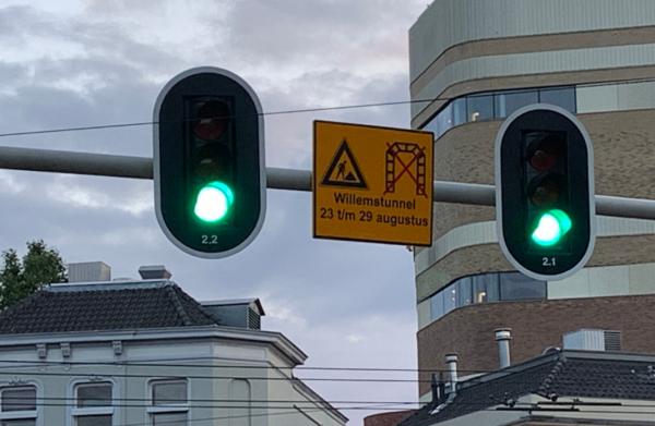 Willemstunnel een week lang afgesloten